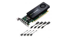 Видеокарта PNY Quadro  Kepler K1200, 4 GB, GDDR3, 128-bit, PCI Express x16, Low Profile, DisplayPort