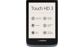 "eBook четец POCKETBOOK Touch HD3 PB632-K-WW, 6"", Metalic gray"