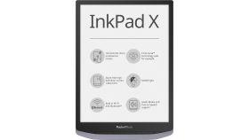 "eBook четец PocketBook InkPad X PB1040, 10.3"", Метално сив"