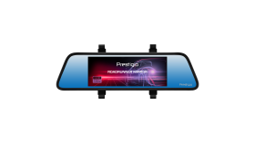 Car Video Recorder PRESTIGIO RoadRunner MIRROR (Front: FHD 1920x1080@30fps Rear: VGA640x480@30fps, 6.86 inch screen, MSC8328P, 4 MP CMOS GC2023 image sensor, 12 MP camera, 120° Viewing Angle, Micro USB, 500 mAh, Automatic Night Mode, Motion Detection