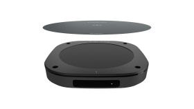10W Hidden fast charging long distance wireless charger with magnetic sticker.