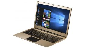 "Prestigio SmartBook 133S, 13.3""(1920*1080) IPS (anti-Glare), Windows 10 Pro, up to 2.4GHz DC Intel Celeron N3350, 3GB DDR, 32GB Flash, BT 4.0, WiFi, Micro HDMI, SSD slot (M.2), 0.3MP Cam, EN+BG kbd, 5000mAh, 7.4V bat, Gold"