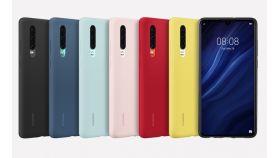 Huawei Elle P30, Silicone Car Case, Pink