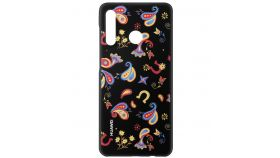Huawei Marie P30lite, Colorful TPU Case Flower, Black