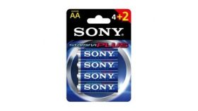 Sony AM3-B4X2D Alkaline LR6-AA Stamina Plus 4+2 pcs pack, AA