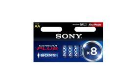 Sony AM3-B6X2D Alkaline LR6-AA Stamina Plus 6+2 pcs, AA