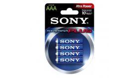 Sony AM4-B4D Alkaline LR03-AAA Stamina Plus 4pcs, AAA