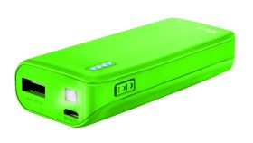 TRUST Primo Power Bank 4400 Portable Charger - Lime