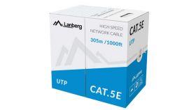 Lanberg LAN cable UTP CAT.5E 305m solid CCA, grey