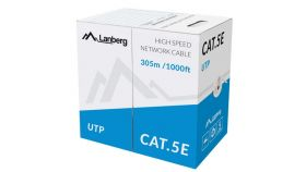 Lanberg LAN cable UTP CAT.5E 305m stranded CCA, grey