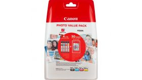 "Canon CLI-581 XL C/M/Y/BK Multi Pack + 50 sheets 4x6"" Photo Paper (PP-201)"
