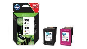 HP 301 2-pack Black/Tri-color Original Ink Cartridges