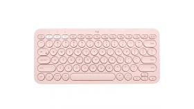 Logitech K380 Multi-Device Bluetooth Keyboard - UK English (Qwerty) - Rose