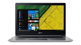 "Acer Swift 3, SF314-52-34L8, Intel Core i3-8130U (up to 3.40GHz, 3MB), 14"" IPS FullHD (1920x1080) Glare, HD Cam, 8GB DDR4, 256GB SSD M.2, Intel UHD Graphics 620, BT 4.2, Backlit Keyboard, MS Win10 + Acer 14"" Protective Sleeve Smoky Gray"