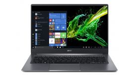 "Acer Swift 3, SF314-57-510L, Intel Core i5-1035G1( up to 3.6Ghz, 6MB), 14"" FHD IPS (1920x1080) AG, 8GB DDR4 onboard, HDD 512GB SSD PCIe, Intel HD Integrated, Win 10 Home, Steel Gray, 1.19kg, Aluminium"