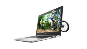 "Dell Inspiron 5570, Intel Core i5-8250U (up to 3.40GHz, 6MB), 15.6"" FHD (1920x1080) AG, HD Cam, 8GB 2400MHz DDR4, 256GB PCIe NVMe SSD, DVD+/-RW, AMD Radeon 530 4GB GDDR5, 802.11ac, BT 4.2, Backlit Keyboard, FingerPrint, Linux, Platinum Silver, 3Y NBD"