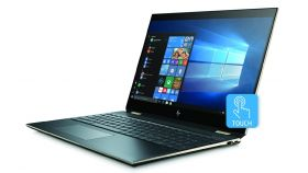 "HP Spectre x360 15-df0025na Dark Silver, Core i7-8565U(1.8Ghz, up to 4.6GHhz/8MB/4C), 15.6"" UHD IPS UWVA AG Touch + WebCam, 16GB 2400Mhz 2DIMM, 512GB PCIe SSD, No Optic, Nvidia GeForce MX150 2GB, WiFi 9560 a/c 2x2+BT, Backlit Kbd, 6Cell Batt, Win 10"