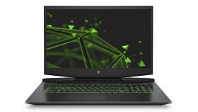 "HP Pavilion 17-cd0016nu Black with Acid green, Core i7-9750H hexa(2.6Ghz, up to 4.5Ghz/12MB/6C), 17.3"" FHD IPS UWVA AG 144Hz + WebCam, 16GB 2666Mhz 2DIMM, 512GB PCIe SSD +1TB 7200rpm, Nvidia GeForce GTX 1660Ti 6GB, WiFi 6AX200 + BT 5.0, 3C Batt, Free"