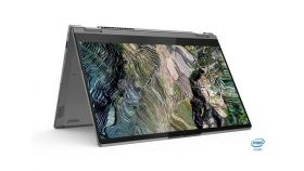 """Lenovo ThinkBook 14s Yoga Intel Core i7-1165G7 (2.8GHz up to 4.7GHz, 12MB), 16GB (8GB+8GB) DDR4 3200MHz, 512GB SSD, 14"""" FHD (1920x1080) IPS Glossy, Touch, Intel Iris Xe Graphics, WLAN, BT, 720p Cam, Backlit KB, FPR, Mineral Grey, 4 cell, Win 10 Pro,"""
