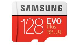 Samsung 128GB micro SD Card EVO+ with Adapter, Class10, Read 100MB/s - Write 60MB/s