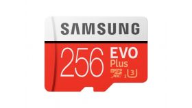 Samsung 256GB micro SD Card EVO+ with Adapter, Class10, Read 100MB/s - Write 90MB/s