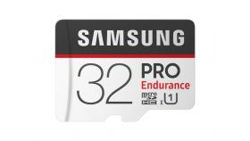 Samsung 32 GB micro SD Card PRO Endurance, Adapter, Class10, Waterproof, Magnet-proof, Temperature-proof, X-ray-proof, Read 100 MB/s - Write 30 MB/s