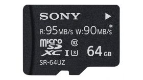 Sony 64GB Micro SD, Super High Speed, class 10 UHS-I, 95MB/sec read, 90MB/sec write