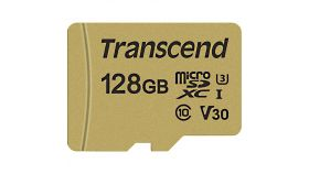 Transcend 128GB microSD UHS-I U3 (with adapter), MLC