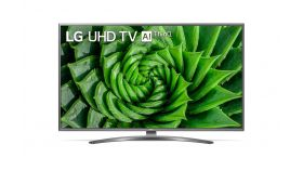 "LG 50UN81003LB, 50"" 4K IPS UltraHD TV 3840 x 2160, DVB-T2/C/S2, webOS Smart TV, ThinQ AI, Quad Core Processor 4K, WiFi 802.11ac, HDR10 PRO 4K/2K, AI Sound, Voice Controll, Miracast / AirPlay 2,  HDMI, CI, LAN, USB, Bluetooth, Crescent Stand, Rocky Bl"