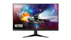 "Acer Nitro QG271bii, 27"" Wide, VA LED, FreeSync, 75Hz, AG, 1ms, 100M:1, 300 cd/m2, 1920x1080 FHD, VGA, 2xHDMI, VESA Mount., Speakers 2x2W, Black"