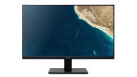 "Acer V277bip, 27"" IPS LED, Anti-Glare, ZeroFrame, 4ms, 100M:1, 250nits, 1920x1080 FHD, 75Hz, VGA, HDMI, DP, Tilt, Black+ADESSO CyberTrack H4 1080P HD USB Webcam"