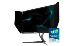 "Acer Predator X27, 27"" Wide IPS AG, Nvidia G-Sync HDR, 144Hz, 4ms, 100M:1 DCR, 600 cd/m2, 3840x2160 4K2K, 99% Adobe RGB, HDMI, DP, USB Hub 3.0, Speakers 2x4W, Height Adjustment, Swivel, Black&Grey"