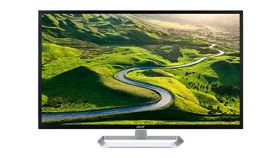 "Acer EB321HQUAwidp, 31.5"" Wide IPS LED, Anti-Glare, 4ms, 100M:1 DCR, 300 cd/m2, 2560x1440 WQHD, DVI, HDMI, DP, White"