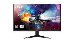 "Acer Nitro QG241Ybii, 23.8"", ZeroFrame, FreeSync, BlueLight Shield, 1ms, 100M:1, 250nits, 1920 x 1080 FHD 75Hz,  VGA, 2xHDMI(1.4), Black"