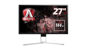"AOC AGON AG271QX 27"", TN, 1 ms, 50M:1 DCR, 350 cd/m2, 2560x1440@144Hz , VGA , DVI , HDMI , MHL , Displayport , USB fast charge"