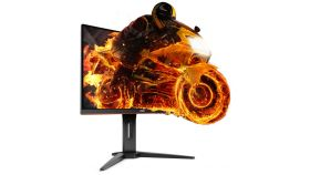 "AOC Gaming C27G1, 27"" Wide Curved MVA LED, 1 ms, 3000:1, 50М:1 DCR, 250 cd/m2, 1920x1080@144Hz, FreeSync, FlickerFree, Low Blue Light, Heigh Adjust, D-Sub, HDMI, DP, Headphone Out, Black/Red"