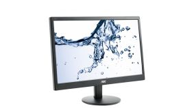 "AOC E970SWN, 18.5"" Wide TN LED, 5ms, 20М:1 DCR, 200 cd/m2, 1366x768 HD, Black"