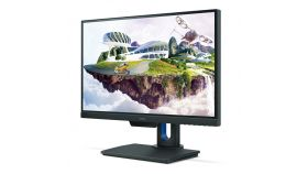 "BenQ PD2500Q, 25"" Wide IPS LED, 4ms GTG, 1000:1, 350 cd/m2, 2560x1440 2K QHD, 100% sRGB, HDMI, DP, USB Hub, Speakers, Height Adjustment, Swivel, Pivot, Gray"