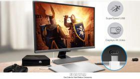 "BenQ EW3270UE, 31.5"" VA, 4ms, 3840x2160 4K UHD, FreeSync, Entertainment Monitor, HDR, 95% DCI-P3, Opt-Clarity, Flicker-free, LBL, B.I.+, Super Resolution, 3000:1, 20M:1 DCR, 10 bit, 300 cd/m2, HDMI, DP, USB Type-C, Speakers, Tilt, Metallic Grey"