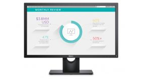"Dell E2318H, 23"" Wide LED Anti-Glare, IPS Panel, 5ms, 1000:1, 250 cd/m2, 1920x1080 Full HD, VGA, Display Port, Tilt, Black"