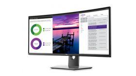 """Dell U3419W, 34"""" Curved  WQHD, IPS Anti-Glare, UltraSharp, 5ms, 1000:1, 300 cd/m2, 3440x1440, 99% sRGB, HDMI, DP, USB 3.0, USB Type-C, Height Adjustable, Swivel"""