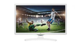 """LG 24MT49VW-WZ, 24"""" WVA, LED non Glare, 5ms GTG, 1000:1, 5000000:1 DFC, 250cd, 1366x768, HDMI, CI Slot, TV Tuner DVB-/T2/C/S2 , Speaker, USB 2.0, Hotel Mode, USB Cloning, White"""