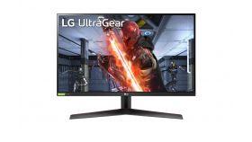 "LG 27GN800-B, 27"" UltraGear IPS, 1ms (GtG at Faster), 144Hz, 1000:1, 350cd/m2, QHD 2560x1440, Radeon FreeSync, G-Sync Compatible, HDR 10, sRGB 99%, USB, HDMI, DisplayPort,  Height Adjustable, Tilt, Pivot, Black"
