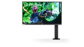 "LG 27GN800-B, 27"" UltraGear Nano IPS, 1ms (GtG at Faster), 144Hz, 1000:1, 350cd/m2, QHD 2560x1440, Radeon FreeSync, G-Sync Compatible, HDR 10, DCI-P3 98%, USB, HDMI, DisplayPort,  Height Adjustable, Tilt, Retract, Swivel, Pivot, Black"