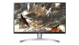 "LG 27UK650-W, 27"" Wide LED, IPS Panel Anti-Glare, sRGB 99%, Cinema Screen, 5ms, 1000:1, Mega DFC, 450 cd/m2, 3840x2160, HDMI, DisplayPort, FreeSync, Headphone out, Tilt, Height (Range), Pivot, Black"