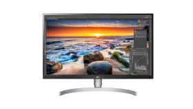 "LG 27UK850-W, 27"" Wide LED, IPS Panel Anti-Glare, sRGB 99%, Cinema Screen, 5ms, 1000:1, Mega DFC, 450 cd/m2, 3840x2160, MAXX Audio 5W x 2,  USB type-C, HDMI, DisplayPort, FreeSync, Headphone out, Tilt, Height (Range), Pivot, Black"