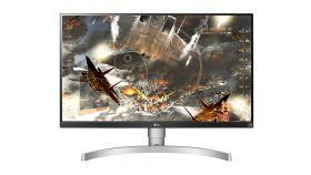 "LG 27UL650-W, 27"" Wide LED, IPS Panel Anti-Glare, sRGB 99%, Cinema Screen, 5ms, 1000:1, Mega DFC, 350 cd/m2, 3840x2160, VESA DisplayHDR 400, HDMI, DisplayPort, FreeSync, Headphone out, Tilt/Height/Pivot, Black"