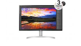 "LG 32UN650-W, 31.5"" UltraFine UHD LED AG, IPS, DCI-P3 95%, 5ms, 350 cd/m2, 1000:1, 3840x2160, HDR 10, HDMI, DisplayPort, Radeon FreeSync, Dynamic Action Sync, Headphone out, Height, Pivot, Tilt, PIP, Speaker, Black"