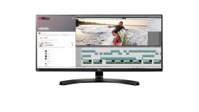"LG 34UM88C-P, 34"" Wide LCD AG, IPS Panel, 5ms, Mega DFC, 1000:1, 300 cd/m2, 21:9, 3440x1440, sRGB 99%,USB, HDMI, DisplayPort, SP 2x7w, Tilt,  Height Adjustable, FreeSync, Headphone Out, Black"