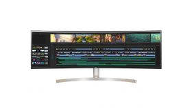 "LG 49WL95C-W, 49"" 32:9 Curved UltraWide Dual QHD 5120x1440 IPS Panel, USB Type-C, 5ms, 350 cd/m2, 1000:1, HDR10, sRGB 99%, FreeSync, 3 PBP, HDMI, DisplayPort, Speaker 2x10W, Tilt, Height, Swivel, Tiltan"